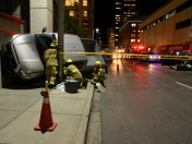 Pickup truck crash in Calgary